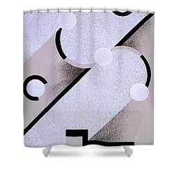 Abstract Design From Nouvelles Compositions Decoratives Shower Curtain by Serge Gladky