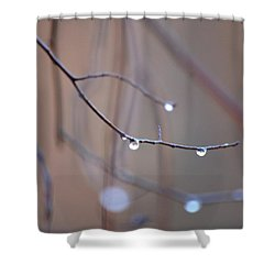 Abstract Dew Drops 2013 Shower Curtain by Maria Urso