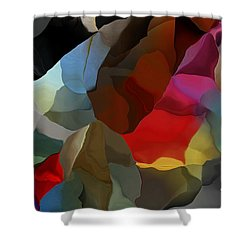 Shower Curtain featuring the digital art Abstract Distraction by David Lane