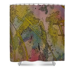 Abstract Doodle Shower Curtain