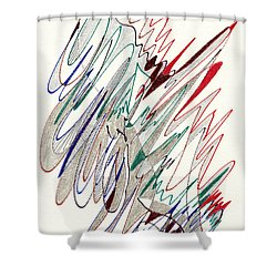 Abstract Drawing Fifty-one Shower Curtain by Lynne Taetzsch