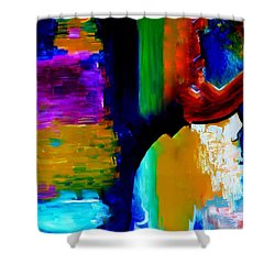 Abstract Du Colour Shower Curtain by Lisa Kaiser