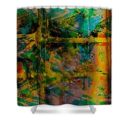 Abstract - Emotion - Facade Shower Curtain by Barbara Griffin