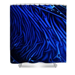 Abstract Experimental Chemiluminescent Photography Blue 1 Shower Curtain