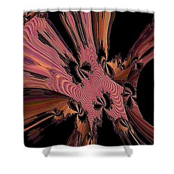 Abstract Explosion Shower Curtain by Jeff Swan