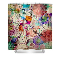 Shower Curtain featuring the digital art Abstract Expressionism by Phil Perkins