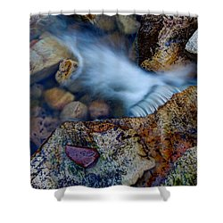 Abstract Falls Shower Curtain by Chad Dutson