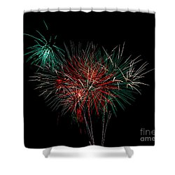 Abstract Fireworks Shower Curtain by Robert Bales