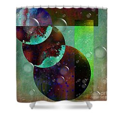 Abstract - Floaters Shower Curtain by Liane Wright