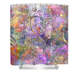 Abstract Floral Designe  Shower Curtain by Debbie Portwood