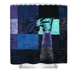 Abstract Floral - H15bt3 Shower Curtain by Variance Collections