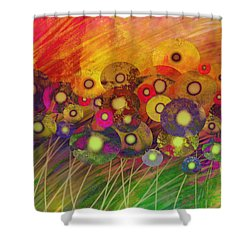 Abstract Flower Garden Fantasy - Abstract Art Shower Curtain
