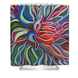Shower Curtain featuring the painting Abstract Flower by Janice Dunbar