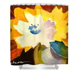 Abstract Flowers 2 Shower Curtain by Marilyn Jacobson