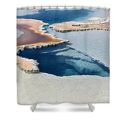 Abstract From The Land Of Geysers. Yellowstone Shower Curtain by Ausra Huntington nee Paulauskaite