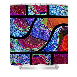 Abstract Fusion 168 Shower Curtain by Will Borden