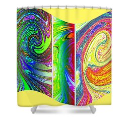 Abstract Fusion 188 Shower Curtain by Will Borden