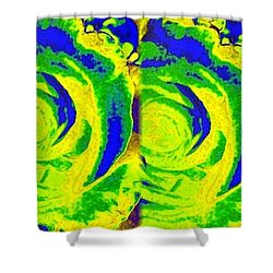 Abstract Fusion 195 Shower Curtain by Will Borden