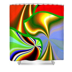 Abstract Fusion 200 Shower Curtain by Will Borden