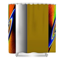 Abstract Fusion 211 Shower Curtain by Will Borden