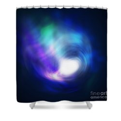 Abstract Galaxy Shower Curtain by Atiketta Sangasaeng