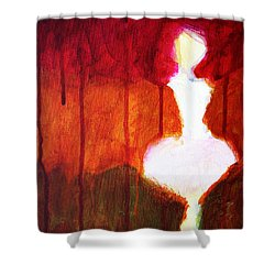 Abstract Ghost Figure No. 2 Shower Curtain