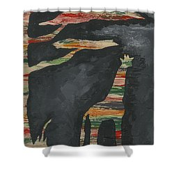 Abstract Giraffe Shower Curtain