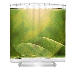 Abstract Globe Shower Curtain by Susan Leggett