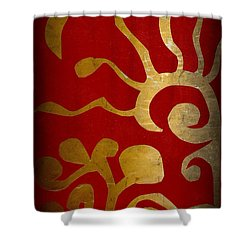 Abstract Gold Collage Shower Curtain