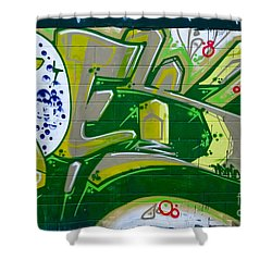 Abstract Graffiti Art Fragment Shower Curtain