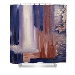 Shower Curtain featuring the painting Abstract I by Donna Tuten