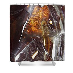 Abstract Ice 4 Shower Curtain by Sarah Loft