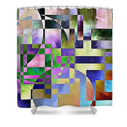 Shower Curtain featuring the painting Abstract In Lavender by Curtiss Shaffer
