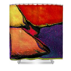 Abstract In Reds Shower Curtain