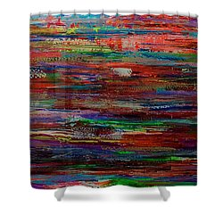 Abstract In Reflection Shower Curtain