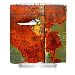 Abstract In Rust 24 Shower Curtain