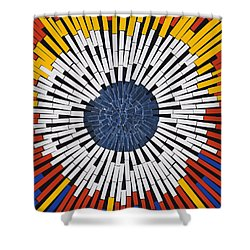 Abstract In Tape - Starburst Shower Curtain by Agustin Goba