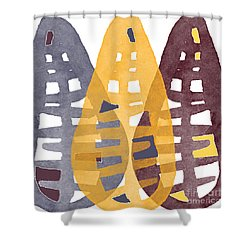 Abstract Indian Corn Shower Curtain by Linda Woods