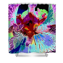 Abstract Iris Shower Curtain by Sally Simon