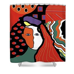 Abstract Lady Shower Curtain