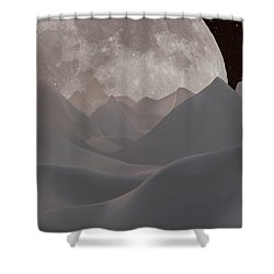 Abstract Landscape #3 Shower Curtain by Wally Hampton