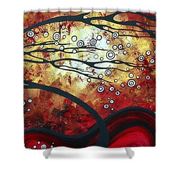 Abstract Landscape Art Original Painting Where Dreams Are Born By Madart Shower Curtain by Megan Duncanson