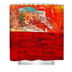 Abstract Landscape I Shower Curtain