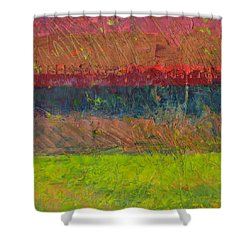 Abstract Landscape Series - Lake And Hills Shower Curtain