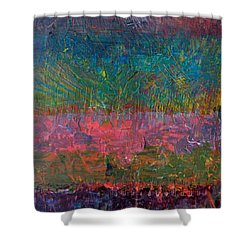 Abstract Landscape Series - Wildflowers Shower Curtain