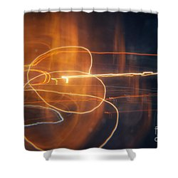 Abstract Light Streaks Shower Curtain by Pixel Chimp
