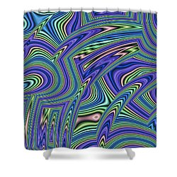 Abstract Lines Shower Curtain by John Edwards