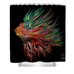 Abstract Lion's Head Shower Curtain