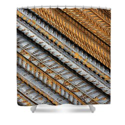 Abstract Metal Texture Pattern Shower Curtain