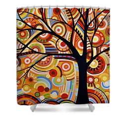 Abstract Modern Tree Landscape Thoughts Of Autumn By Amy Giacomelli Shower Curtain